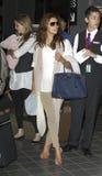 Actress Eva Longoria is seen at LAX . Royalty Free Stock Image