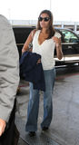 Actress Eva Mendes at LAX Royalty Free Stock Images