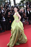 Actress Fan Bingbing. CANNES, FRANCE - MAY 16: Actress Fan Bingbing attends 'The Tree Of Life' premiere during the 64th Annual Cannes Film Festival at Palais des royalty free stock images