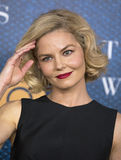 Actress Jennifer Morrison. Gorgeous actress Jennifer Morrison arrives for the premiere of `The Wizard of Lies,` an HBO film production about the crooked Royalty Free Stock Image