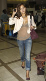 Actress Jessica Alba  is seen at LAX Stock Photos