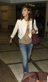 Actress Jessica Alba  is seen at LAX Stock Photography