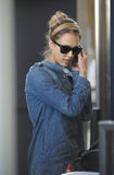 Actress Jessica Alba is seen at LAX Stock Photo