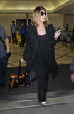 Actress Kirstie Alley is seen at LAX airport, CA Stock Photo