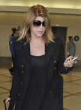 Actress Kirstie Alley is seen at LAX airport, CA royalty free stock photography