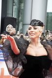 Lady Gaga at premiere of `A Star Is Born` wearing Armani Privéat at Toronto International Film Festival. Actress Lady Gaga at premiere of A Star Is Born in stock images