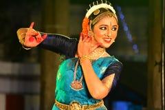 Actress Lakshmi Menon Dance Performance At Kapaleeshwarar Temple In Chennai Royalty Free Stock Photography