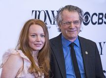 Lauren Ambrose. Actress Lauren Ambrose and director Bartlett Sher arrive for the 2018 Tony Awards Meet the Nominees press junket at the InterContinental New York Stock Image