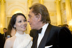 Actress  Lucy Liu and couturier Valentino Royalty Free Stock Image