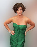 Actress Marcia Gay Harden. Marcia Gay Harden won the best lead actress award in a non-musical for her role in God of Carnage.  She is shot at the Tony Awards at Stock Photo