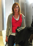 Actress Marg Helgenberger at LAX airport Stock Photography