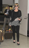 Actress Melanie Griffith at LAX airport. Stock Photography