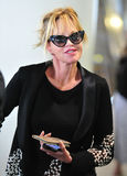 Actress Melanie Griffith at LAX airport,CA USA. LOS ANGELES-MAY 15: Actress Melanie Griffith at LAX airport. May 15 in Los Angeles, California 2010 Royalty Free Stock Image
