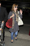 Actress Mila Jovovich is seen at LAX Stock Images