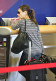 Actress Mila Kunis at LAX airport Stock Images