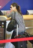 Actress Mila Kunis at LAX airport Stock Images