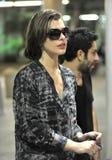 Actress Milla Jovovich at LAX airport Stock Photos