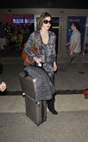 Actress Milla Jovovich at LAX airport Stock Photo