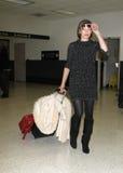 Actress Milla Jovovich is seen at LAX airport Royalty Free Stock Photo