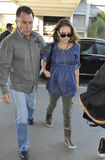 Actress Natalie Portman is seen at LAX Stock Images