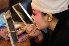 Actress Painting masks Royalty Free Stock Photos