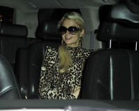 Actress Paris Hilton&boyfriend at LAX airport, CA Royalty Free Stock Image