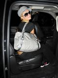 Actress Paris Hilton is seen at LAX Royalty Free Stock Photography