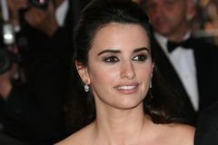 Actress Penelope Cruz. CANNES, FRANCE - MAY 19: Actress Penelope Cruz departs the Broken Embraces Premiere held at the Palais Des Festivals during the 62nd Royalty Free Stock Photos