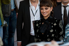 Actress Penelope Cruz in Moscow stock photo
