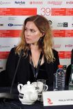 Actress Pihla Viitala, Finland, at Moscow International Film Festival Royalty Free Stock Photos