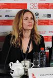 Actress Pihla Viitala, Finland, at Moscow International Film Festival stock images