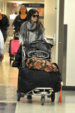 Actress Rachel Bilson at LAX airport Royalty Free Stock Photography