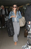 Actress Rachel Bilson is seen at LAX Royalty Free Stock Images