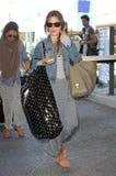 Actress Rachel Bilson is seen at LAX Royalty Free Stock Photos