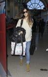 Actress Rachel bilson is seen at LAX Royalty Free Stock Image