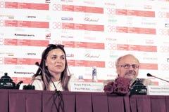 Actress Raya Peeva and director Radoslav Spassov Royalty Free Stock Image