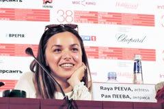 Actress Raya Peeva Stock Images