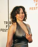 Rosie Perez. Actress Rosie Perez arrives at the 4th Annual Tribeca Film Festival on April 30, 2005.   The event was held at the Borough of Manhattan Community Royalty Free Stock Photos