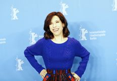 Actress Sally Hawkins attends the photocall. Of `Maudie` during the 67th Berlinale Film Festival Berlin at Grand Hyatt Hotel in Berlin, Germany on February 15 Royalty Free Stock Images