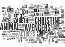 Actress Shannon Elizabeth Is America S Sweetheart Word Cloud Royalty Free Stock Photography