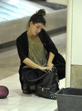 Actress Shenae Grimes is seen at LAX Stock Images