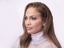 Jennifer Lopez. Actress, singer, dancer, producer, and pop superstar Jennifer Lopez attends the 33rd Annual Great Sports Legends Dinner, at the New York Hilton royalty free stock images