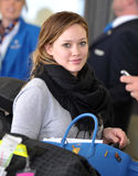 Actress singer Hillary Duff at LAX Stock Photos