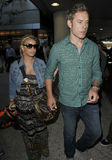 Actress Singer Jessica Simpson & boyfriend at LAX Royalty Free Stock Photo