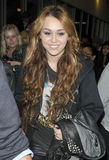 Actress / singer Miley Cyrus at LAX airport. Stock Image