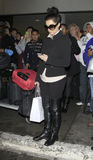 Actress singerKim Kardashian at LAX Stock Images