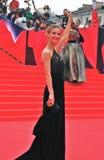 Actress Svetlana Ivanova greets fans at Moscow Film Festival Royalty Free Stock Photo