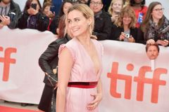 Actress Taylor Schilling at The Public premiere at TIFF2018 Stock Photos