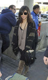 Actress Vanessa Hudgens at LAX airport Royalty Free Stock Photos