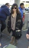 Actress Vanessa Hudgens at LAX airport royalty free stock photos